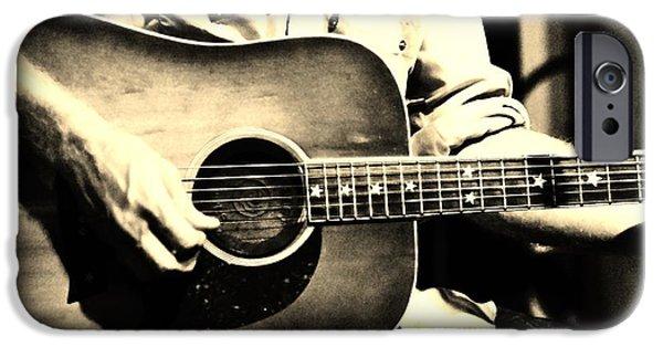 Lynda Dawson-youngclaus Photographer iPhone Cases - Stars n Guitars iPhone Case by Lynda Dawson-Youngclaus