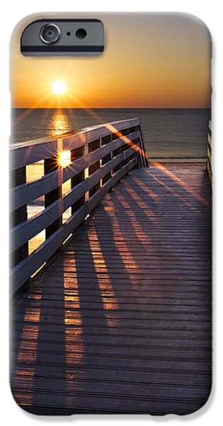 Stars on the Boardwalk iPhone Case by Debra and Dave Vanderlaan