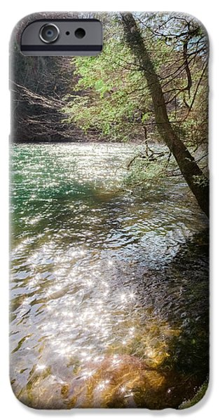Tennessee River iPhone Cases - STARS UPON the RIVER iPhone Case by Karen Wiles