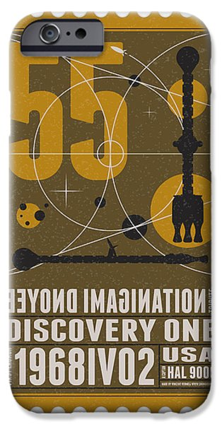 Starschips 55-poststamp -Discovery One iPhone Case by Chungkong Art