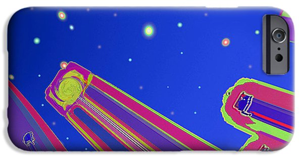 Abstract Digital iPhone Cases - Starscrapers iPhone Case by Wendy J St Christopher