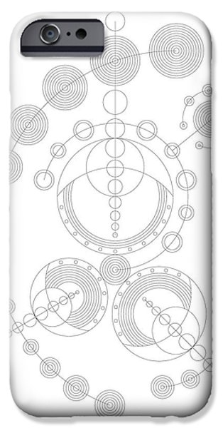 Hieroglyph iPhone Cases - Starship iPhone Case by DB Artist