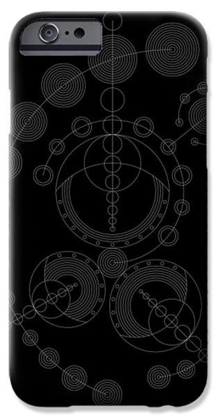 Hieroglyph iPhone Cases - Starship Inverse iPhone Case by DB Artist