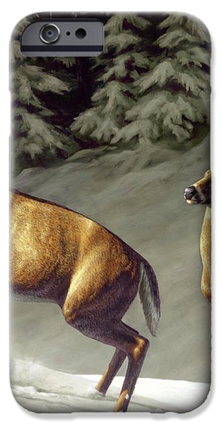 Startled - variation iPhone Case by Crista Forest