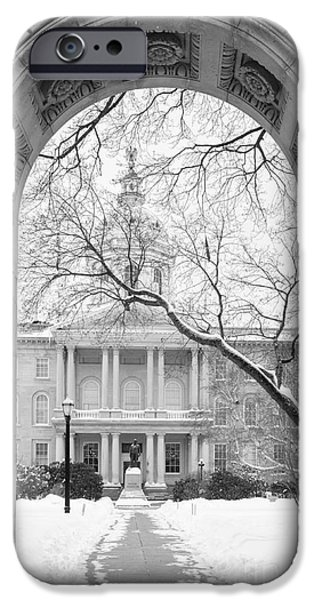 Concord. Winter iPhone Cases - State Capital Building Concord New Hampshire 2015 iPhone Case by Edward Fielding