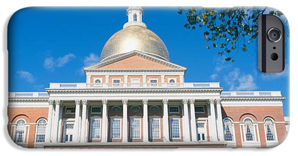 Boston Ma iPhone Cases - State Capitol, Boston, Massacushetts iPhone Case by Panoramic Images
