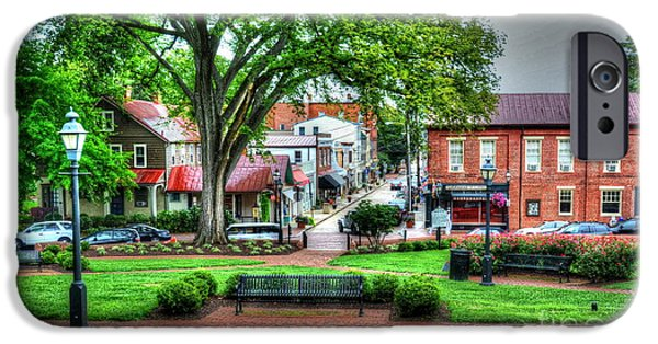 Annapolis Maryland iPhone Cases - State House Grounds iPhone Case by Debbi Granruth
