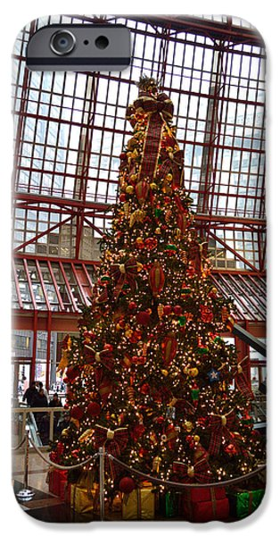 Willis Tower iPhone Cases - State Of Illinois Christmas Tree 02 iPhone Case by Thomas Woolworth