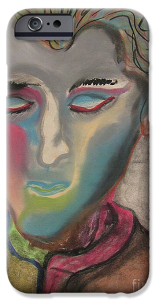 Expressionism Pastels iPhone Cases - State of Solace  iPhone Case by Peter Piatt