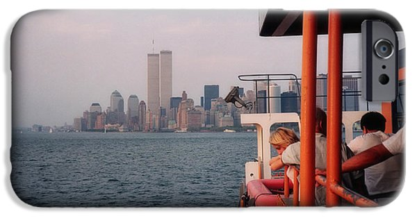 Twin Towers Nyc iPhone Cases - Staten Island Ferry View iPhone Case by Joann Vitali