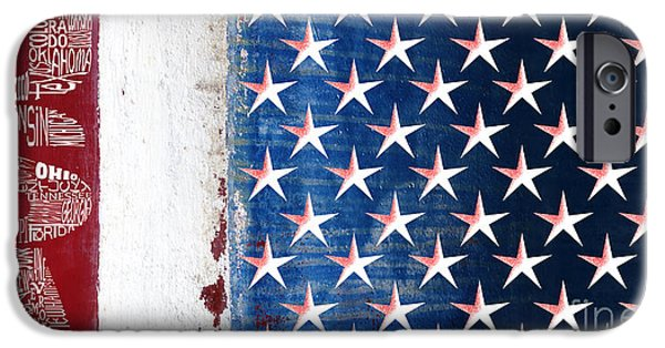 Massachusetts State Flag Digital iPhone Cases - States Stars and Stripes 1 iPhone Case by Wendy Wilton