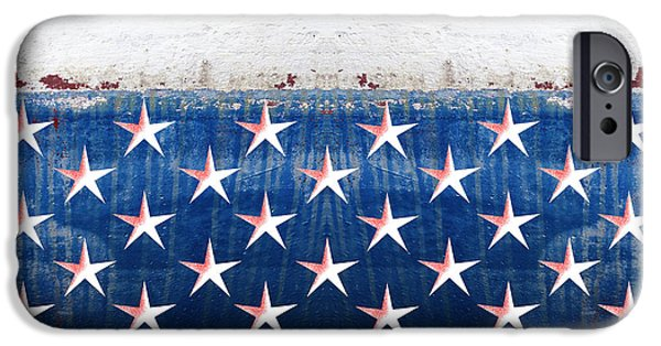 Massachusetts State Flag Digital iPhone Cases - States Stars And Stripes 2 iPhone Case by Wendy Wilton
