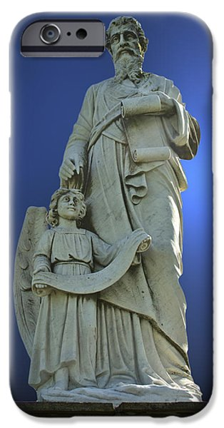 Angel Blues Sculptures iPhone Cases - Statue 05 iPhone Case by Thomas Woolworth