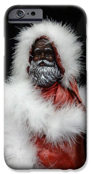 Santa Sculptures iPhone Cases - Statue 10 iPhone Case by Els Schutte
