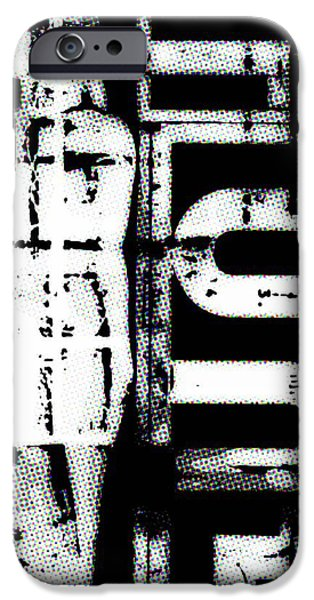 Copy Mixed Media iPhone Cases - Statue comic style iPhone Case by Toppart Sweden