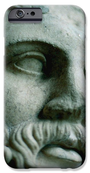 Statue Face iPhone Case by Marcio Faustino