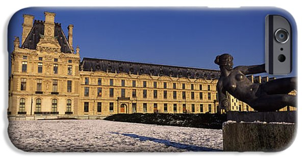 Built Structure iPhone Cases - Statue In Front Of A Palace, Tuileries iPhone Case by Panoramic Images