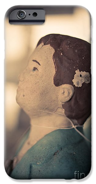 Chip iPhone Cases - Statue of a boy praying iPhone Case by Edward Fielding