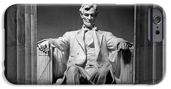 Lincoln iPhone Cases - Statue Of Abraham Lincoln iPhone Case by Panoramic Images