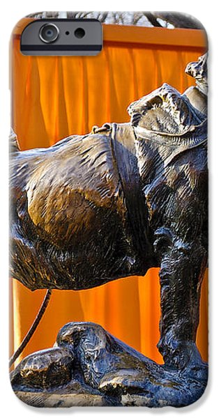 Statue of Balto in NYC Central Park iPhone Case by Anthony Sacco