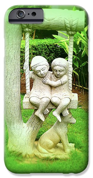 Statues Pyrography iPhone Cases - Statue of Brotherhood  iPhone Case by Girish J