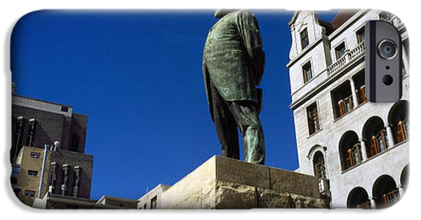Cape Town iPhone Cases - Statue Of Jan Hendrik Hofmeyr At A Town iPhone Case by Panoramic Images