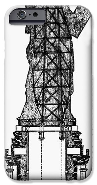 Carousel Collection iPhone Cases - Statue Of Liberty, 1886 iPhone Case by Granger