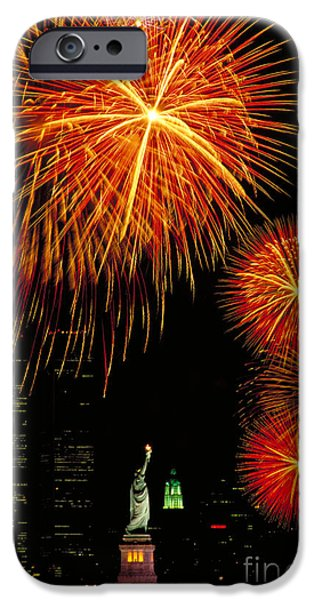 4th July Photographs iPhone Cases - Statue Of Liberty iPhone Case by Andy Levin