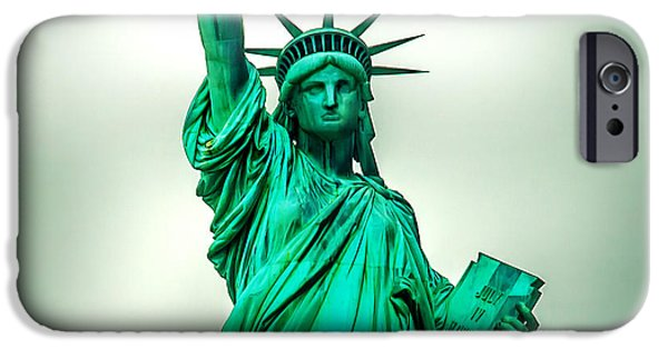 Liberation iPhone Cases - Statue Of Liberty iPhone Case by Az Jackson