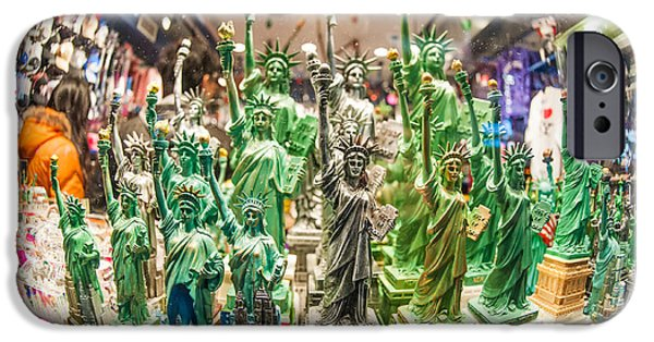 Toy Store iPhone Cases - Statue of liberty iPhone Case by Luca Venturelli
