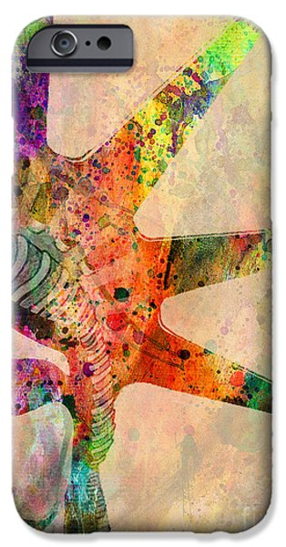Vibrant Mixed Media iPhone Cases - Statue Of Liberty  iPhone Case by Mark Ashkenazi