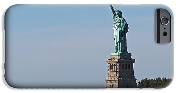 New York Photographs iPhone Cases - Statue of Liberty iPhone Case by Rona Black