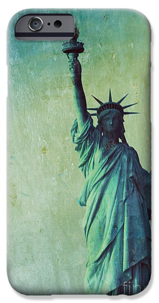 Statue of Liberty iPhone Case by Sophie Vigneault