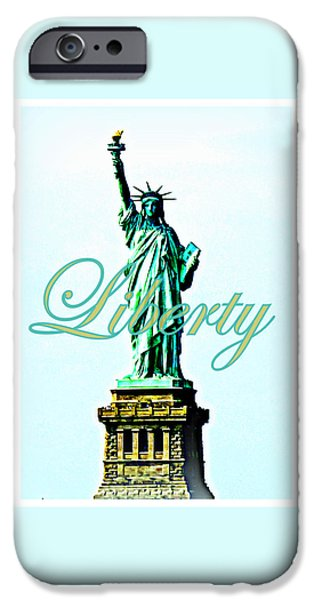 4th July Photographs iPhone Cases - Statue of Liberty iPhone Case by The Creative Minds Art and Photography