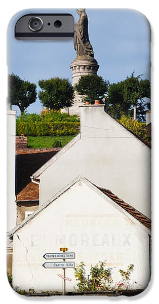 Pope iPhone Cases - Statue Of Pope Urban Ii At Chatillon iPhone Case by Panoramic Images