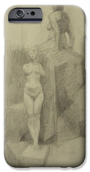 Statues iPhone Case by Cynthia Harvey