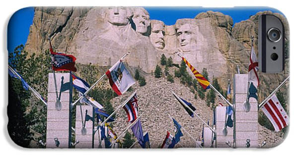 Mount Rushmore iPhone Cases - Statues On A Mountain, Mt Rushmore, Mt iPhone Case by Panoramic Images