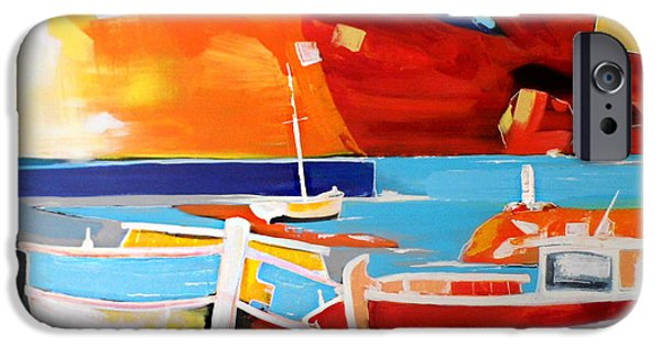 Abstract Seascape iPhone Cases - Stavento iPhone Case by Yiannis Notaropoulos