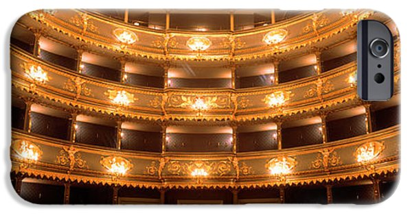 Balcony iPhone Cases - Stavovske Theater, Prague, Czech iPhone Case by Panoramic Images