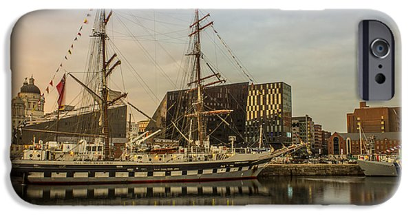 Tall Ship iPhone Cases - Stavros S Niarchos Tall Ship iPhone Case by Paul Madden