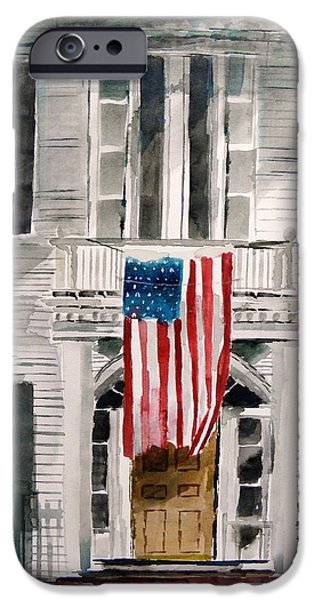 Old Glory Drawings iPhone Cases - Stay Aware iPhone Case by John  Williams