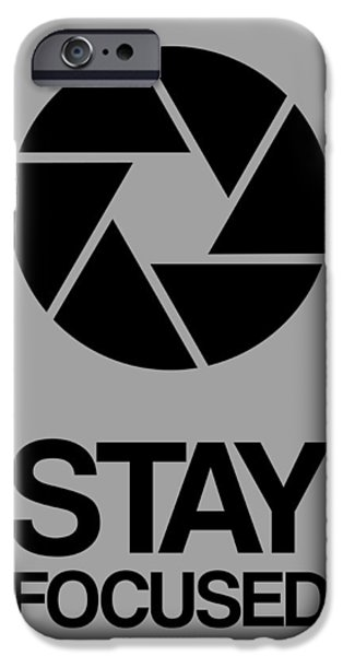 Music Box iPhone Cases - Stay Focused Circle Poster 3 iPhone Case by Naxart Studio