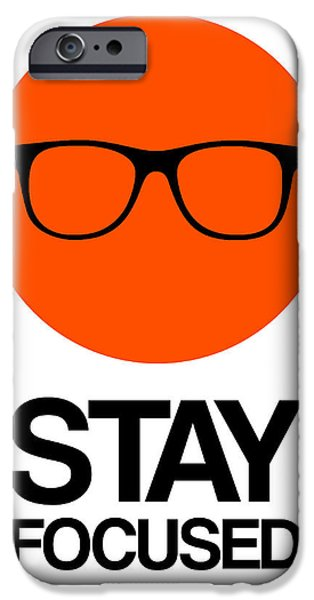 Music Box iPhone Cases - Stay Focused Circle Poster 5 iPhone Case by Naxart Studio