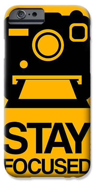 Polaroid iPhone Cases - Stay Focused Polaroid Camera Poster 2 iPhone Case by Naxart Studio