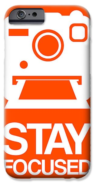 Polaroid iPhone Cases - Stay Focused Polaroid Camera Poster 3 iPhone Case by Naxart Studio