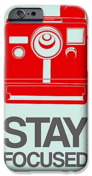 Polaroid iPhone Cases - Stay Focused Polaroid Camera Poster 4 iPhone Case by Naxart Studio