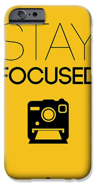 Camera iPhone Cases - Stay Focused Poster 2 iPhone Case by Naxart Studio