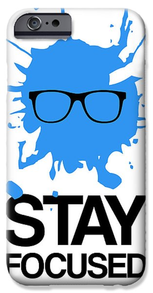 Gig iPhone Cases - Stay Focused Splatter Poster 2 iPhone Case by Naxart Studio