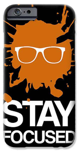 Music Box iPhone Cases - Stay Focused Splatter Poster 3 iPhone Case by Naxart Studio