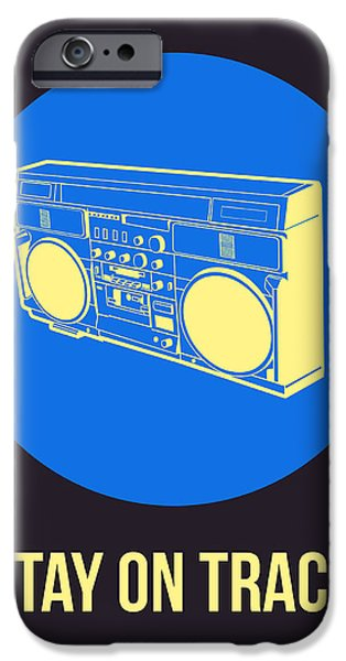 Music Box iPhone Cases - Stay On Track BoomBox 2 iPhone Case by Naxart Studio